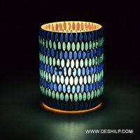 Bindi Mosaic Shape Glass Candle Holder