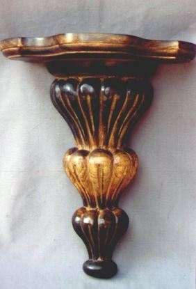 Hand Carved Design Wooden Wall Shelf