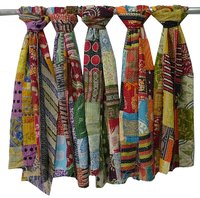 Cotton Kantha Patchwork Scarves