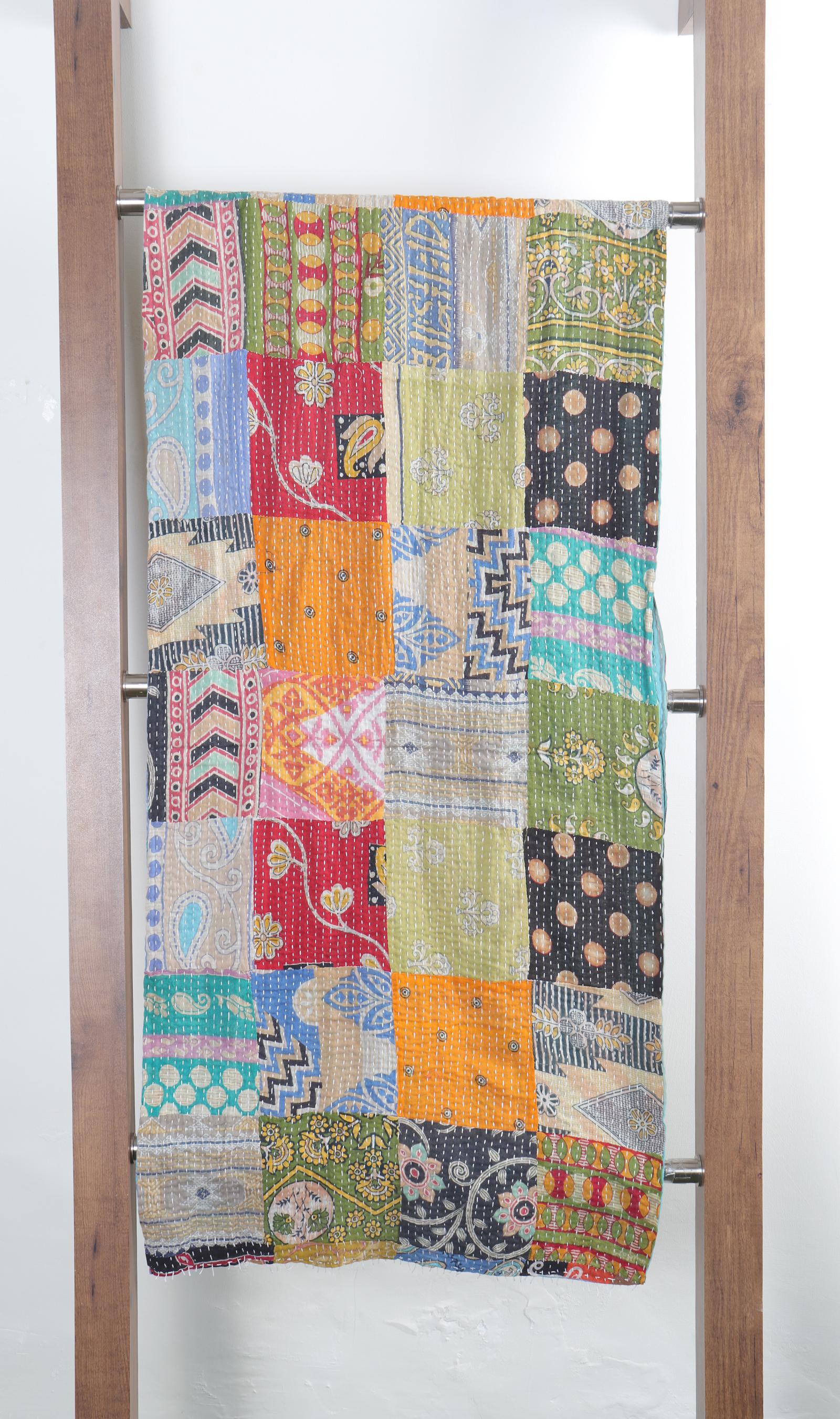 Cotton Kantha Patchwork Scarves