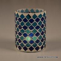 Mosaic Handicraft Glass Candle Holder
