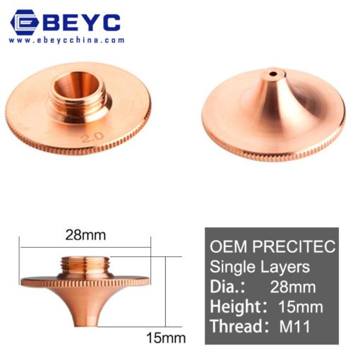 Laser Nozzle Double/Single Layer for Precitec Raytools Cutting Head