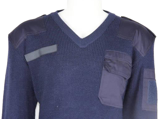 Navy Blue Military Pullover