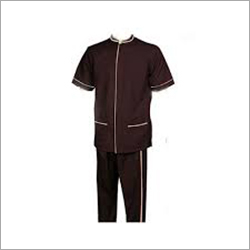 Brown Plain Waiter Uniform