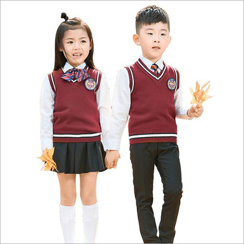 Kids School Sleeveless Sweater
