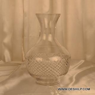 Clear Crystal Cut Glass Flower Vase