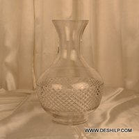 Clear Crystal Cut Glass Flower Vase