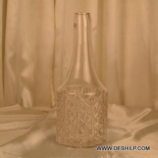 Bottle Shape Glass Crystal Flower Vase