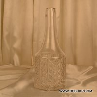 Bottle Shape Glass Crystal Flower Vase