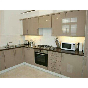 L Shape Designer Modular Kitchen