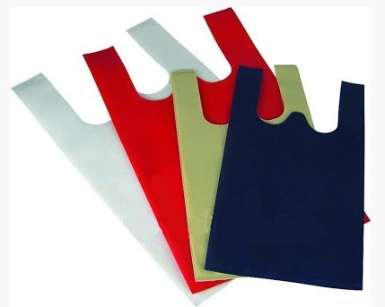 W Cut Non Woven Handle Bags