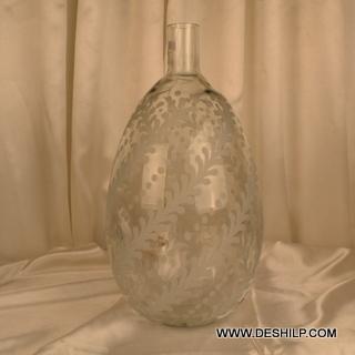 Big Size Glass Crystal Flower Vase