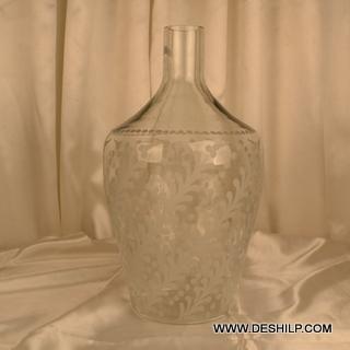 Big Matki Shape Clear Flower Vase
