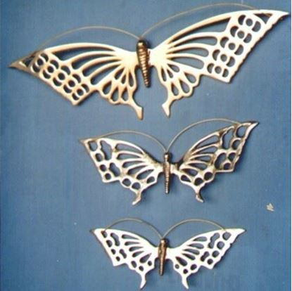 Brass Wall Butterfly Set of 3