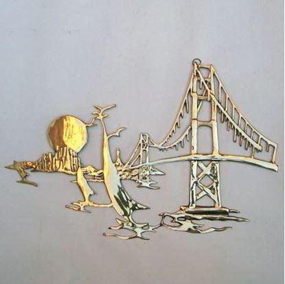 Brass Wall Hanging Golden Gate Bridge