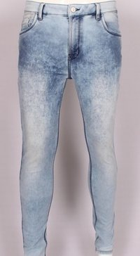 Pure Cotton Knitted Dobby Slim Fit Jeans