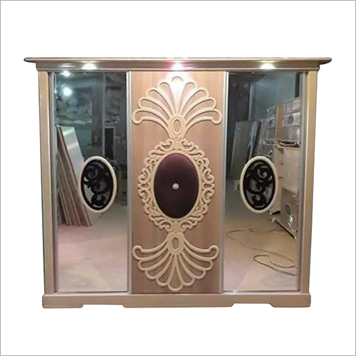 Wooden Cupboard With Mirror