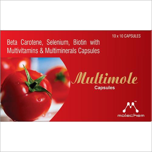 Beta Carotene Selenium Biotin with Multivitamins and Multiminerals Capsules