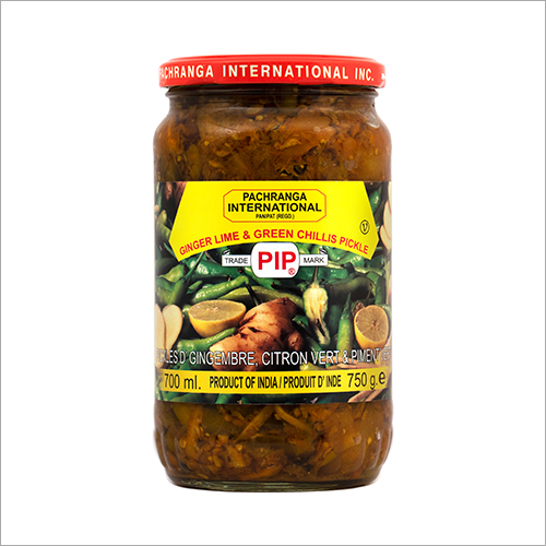 Ginger Lime and Green Chillis Pickle