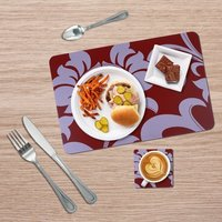 Red And White Table Mat