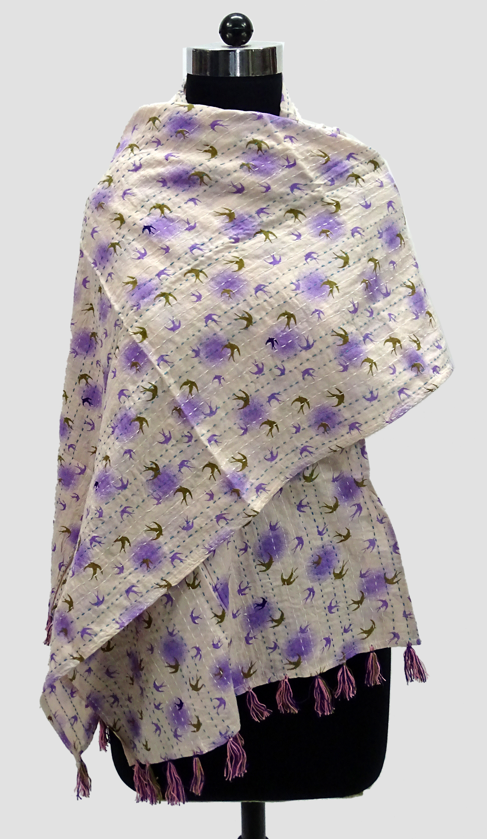 Cotton Kantha Scarves