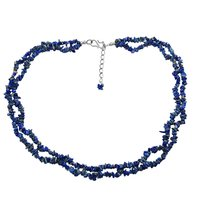 Rolo-Chain, Handmade Jewelry Manufacturer S-Hook, 925 Sterling Silver, Chips Uncut Sodalite Necklace Jaipur Rajasthan India