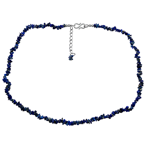 Handmade Jewelry Manufacturer Rolo-Chain 925 Sterling Silver Rough Uncut Sodalite Jaipur Rajasthan India Single Layer Strand Necklace