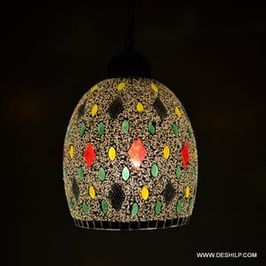 Decorated Glass Wall Hanging