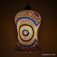 GLASS MADE MOSAIC FINISH WALL HANGING LAMP