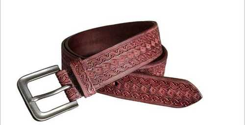 leather belt fir mens with tooling work