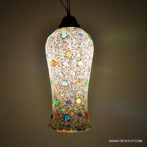 Beautiful Mosaic Wall Hanging Lamp