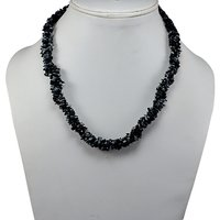 Jaipur Rajasthan India 925 Sterling Silver Black With White Spots Snowflake Obsidian Chips Necklace Handmade Jewelry Manufacturer