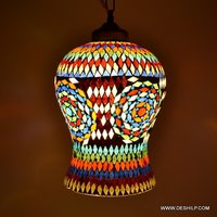 MULTI MOSAIC GLASS WALL LAMP