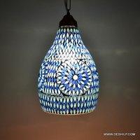 BLUE MOSAIC WALL HANGING DECOR LAMP