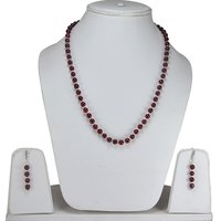 Lobster-Claw Hook, Jaipur Rajasthan India 925 Sterling Silver , Handmade Jewelry Manufacturer Round Beaded Pink Quartz, Necklace Set