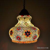 MOSAIC ANTIQUE WALL HANGING LAMP
