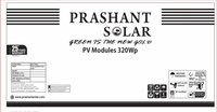 PRASHANT SOLAR 320 WATTS 24V