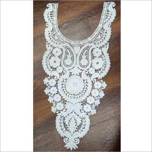 Neck White Cotton Lace