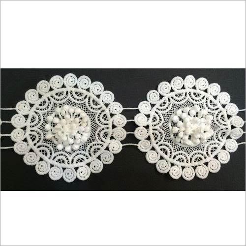 Designer Fancy Lace Cotton With Applique