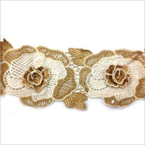 Crochet Lace With Zari Work
