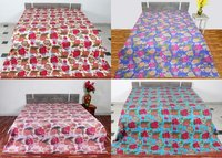 Kantha Bed Cover Fruit Design