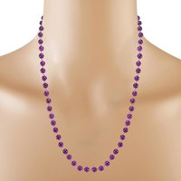 6mm Round Jaipur Rajasthan India Beaded Purple Quartz 925 Sterling Silver Rolo-Chain Handmade Jewelry Manufacturer Necklace Jewelry Set