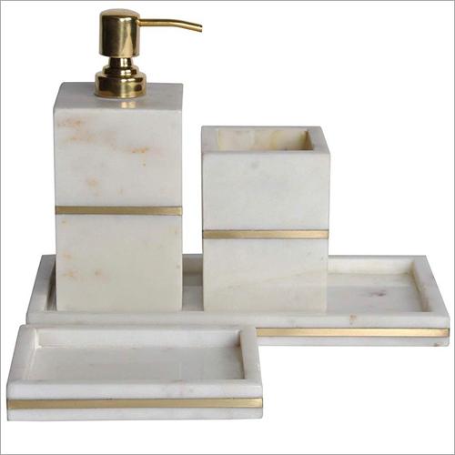 Marble Inlay Bath Set