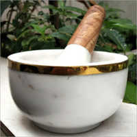 Marble Mortar Pestle