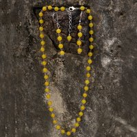 Yellow Quartz Jaipur Rajasthan India Beaded 925 Sterling Silver Lobster-Claw Hook Handmade Jewelry Manufacturer Necklace & Earring Set