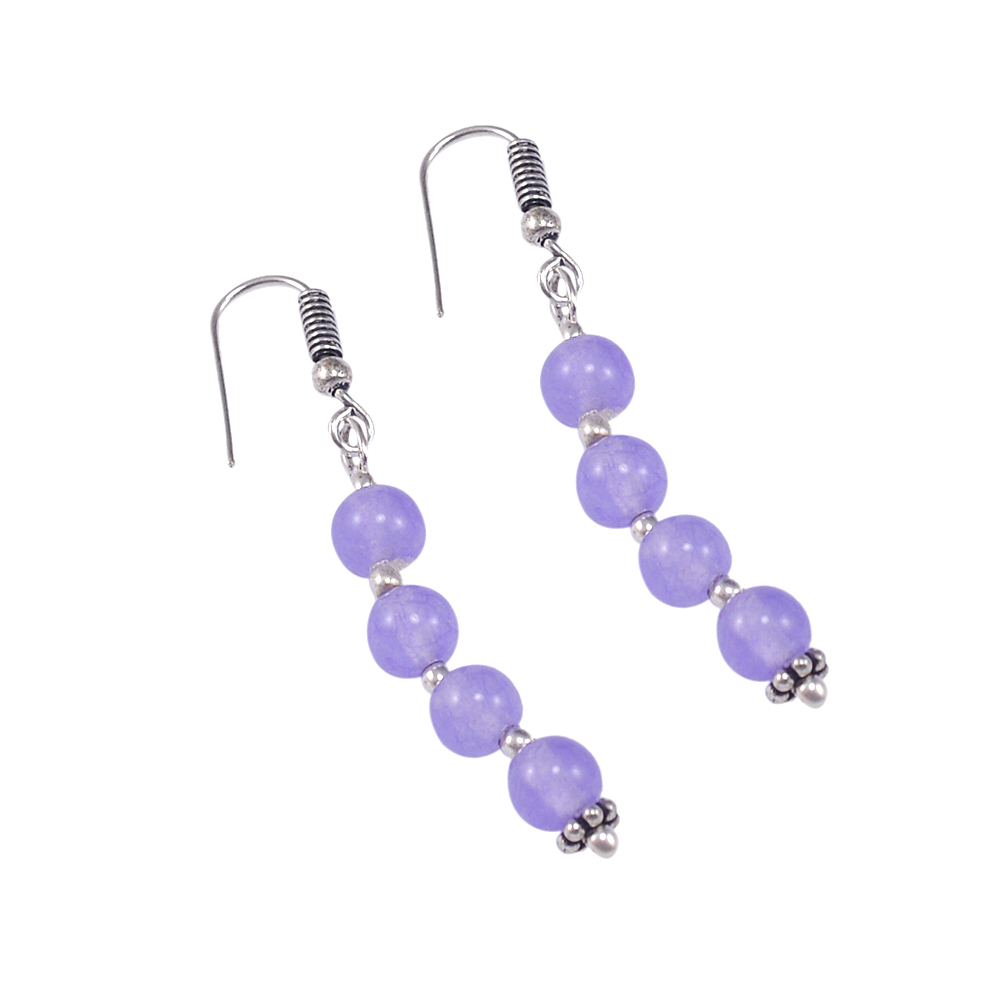 925 Sterling Silver Handmade Jewelry Manufacturer Lobster-Claw Hook With 6mm Round Beaded Purple Quartz Jaipur Rajasthan India Necklace Set