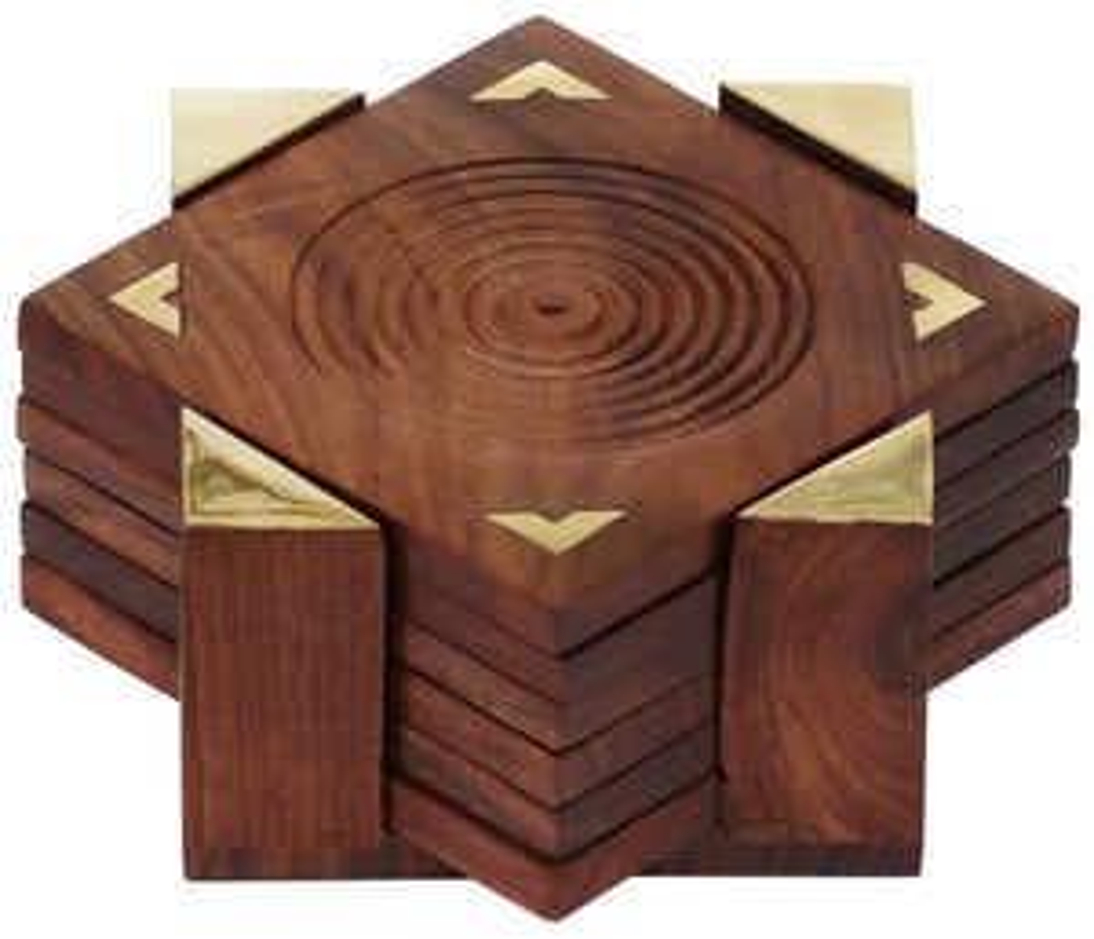 Wooden Coasters Set