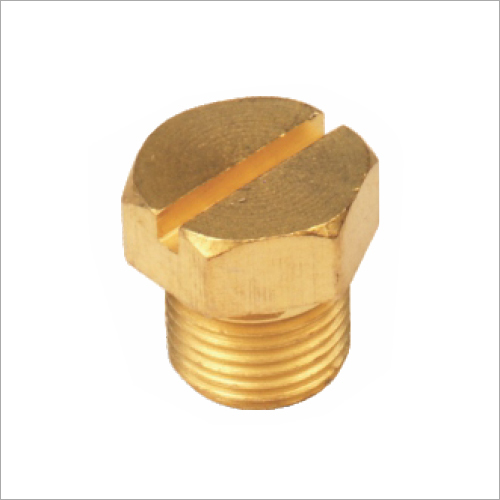 1/8 Brass Heavy Hex Plug