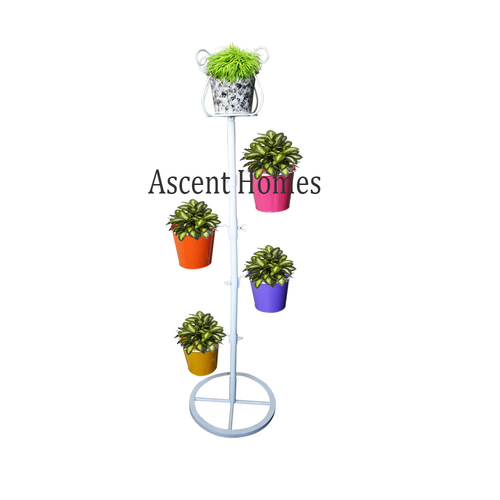Metal Corner Multiple Pot Stand for Outdoor and Indoor  (IN KD Design)