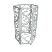 Metal Planter with scroll patterned Stand